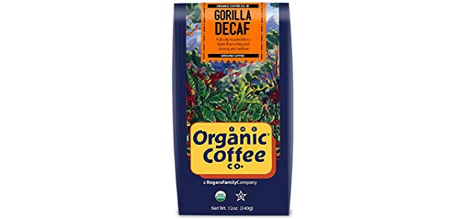 The Organic Coffee Co. Gorilla - Organic Swiss Water Decaf Coffee