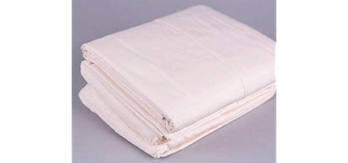 Viverano Organic Percale Sheets - Pure Organic Cotton Percale Bed Sheets