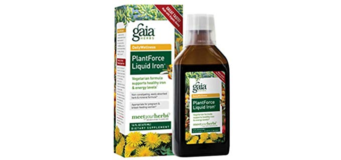 Gaia Herbs Natural - Plantforce Liquid Iron