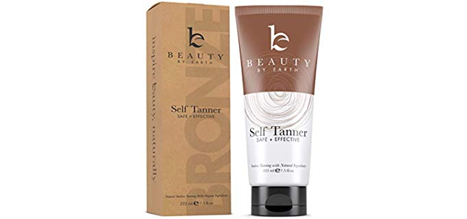 Beauty By Earth Bronze Self Tanner - Effective Organic Self Tanner Cream