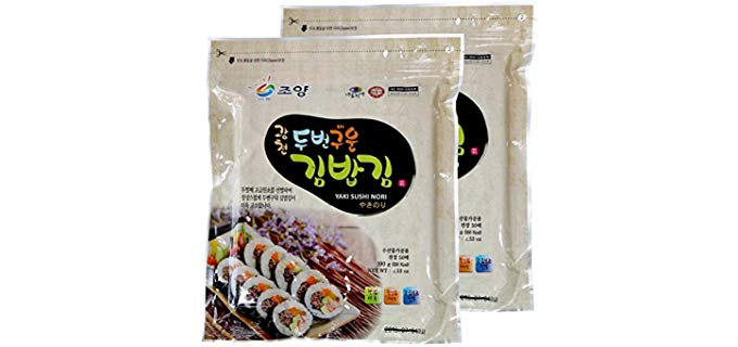 Gwangcheon Joyang Food Co., Ltd. Premium Yaki Sushi Nori - Vacuum Packed Organic Roll