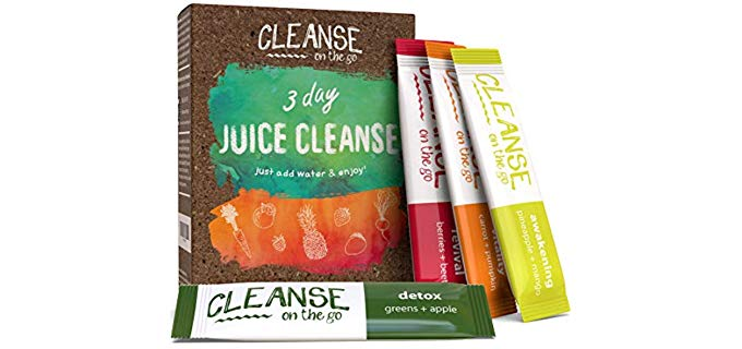 CLEANSE on the go 100% Vegan - 3 Day Juice Cleanse