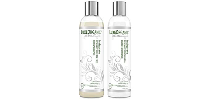 Luxeorganix Biotin - Organic Shampoo for Color Treated Hair