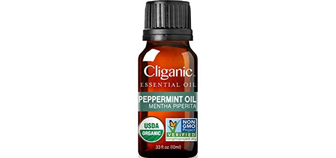 Cliganic Peppermint - Organic Peppermint Oil for Bugs Spray