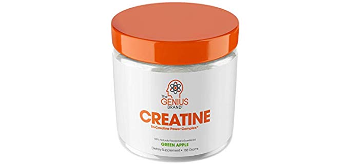 The Genius Brand Creatine Powder - Natural Lean Muscle Builder