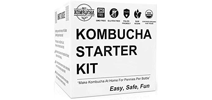 Get Kombucha Kombucha Starter Kit - Organic Probiotic Infused Brewing