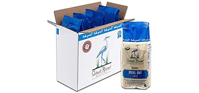 Great River Milling Steel Cut - Certified Organic Oatmeal