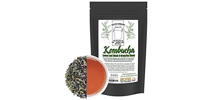 Solstice Tea Traders Kombucha Loose Leaf Black and Green Tea - Hand Blended Organic Kombucha