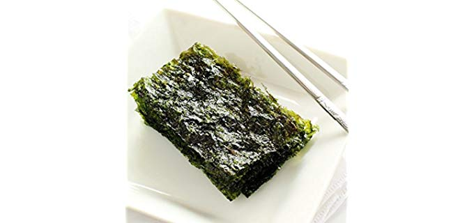 All About Living Korean Premium Roasted Nori - Organic Nori Sheets