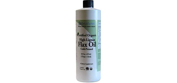 BioNatures High-Lignan Flax Oil - Certified Organic Flaxseed Oil