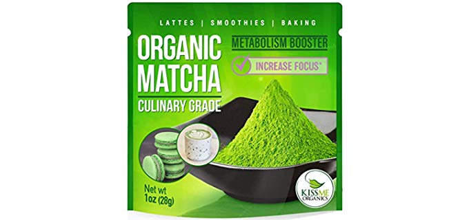 Kiss Me Organics Organic Matcha Green Tea Powder - Pure Matcha Powder