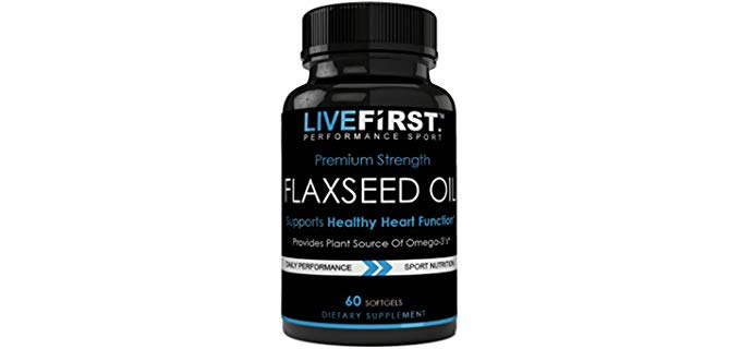 Live First Performance Sport Flaxseed Oil - Premium Strength Organic Oil