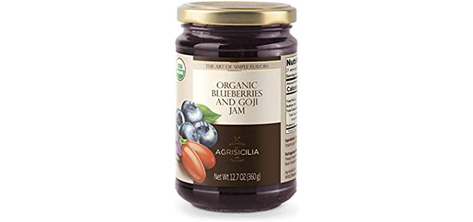 USDA Organic Blueberry and Goji Jam - Organic Blueberry and Goji Jam