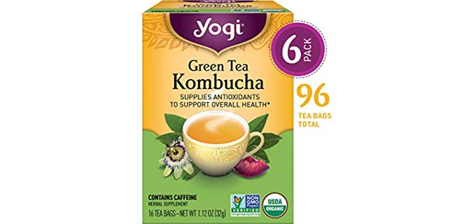 Yogi Green Tea Kombucha - Supplies Antioxidants