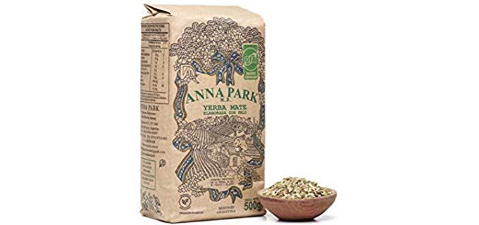 ANNA PARK Organic Yerba Mate Loose Leaf Tea - Traditional South American Tea Drink