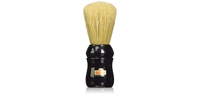 Omega Professional Boar Hair Shaving Brush - Black Handled Shaving Brush
