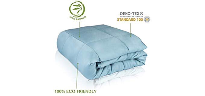 CARMA Weighted Blanket 15 lbs - Ultra Soft, Organic 100% Bamboo