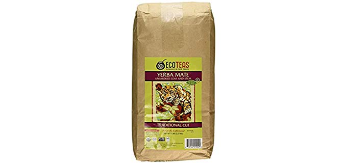 ECOTEAS Organic Yerba Mate - Unsmoked Traditional Cut Loose Tea