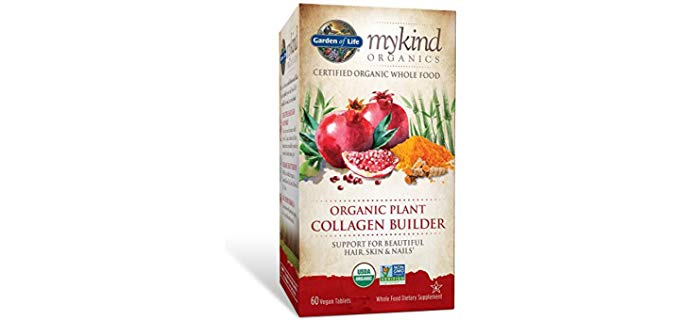 Garden of Life mykind Organic Plant Collagen Builder - Vegan Collagen Builder for Hair, Skin and Nail Health