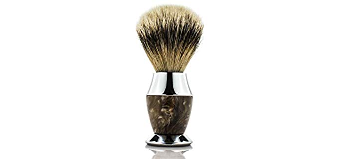 Maison Lambert Silvertip Badger Bristle - Horn imitation Handle Shaving Brush