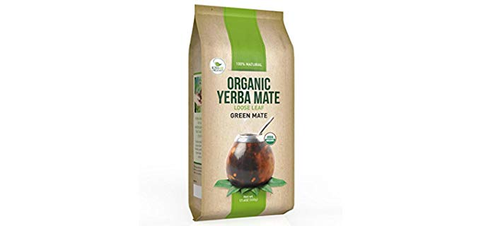 Kiss Me Organics Organic Yerba Mate - Traditional South American Loose Leaf Tea