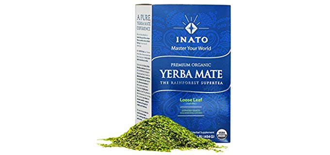 INATO PREMIUM Organic Yerba Mate - South American Traditional Green Tea Drink