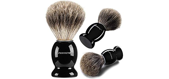 Perfecto Badger Brush - 100% Pure Badger Shaving Brush