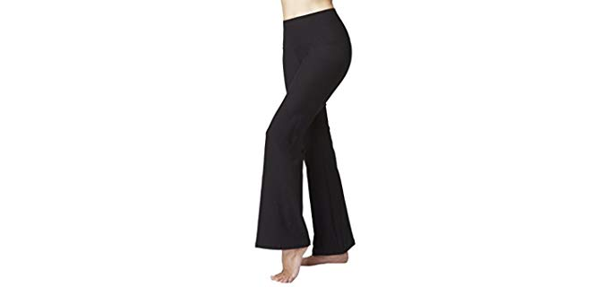 TLC Sport Yoga Bootcut Pant - Organic Egyptian Cotton Tummy Control Slimming Yoga Pant