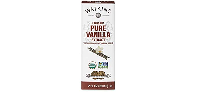 Watkins Organic Pure Vanilla Extract - Made from Madagascar Vanilla Beans