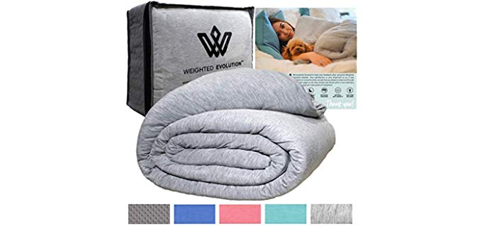Weighted Evolution Diamond Stitch - Duvet Bamboo Blanket