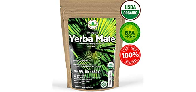 U.S. Wellness Naturals Yerba Mate Tea - Organic SUPER-GREEN Yerba Mate