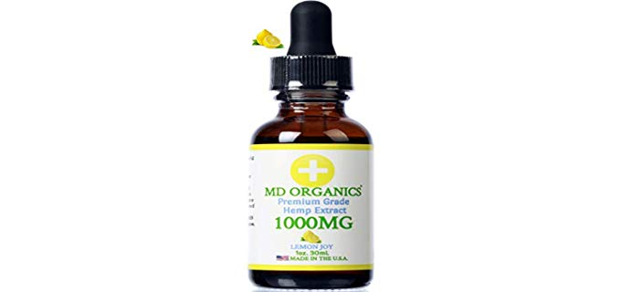 MD Organics Pure - Organic Hemp Oil for Joints