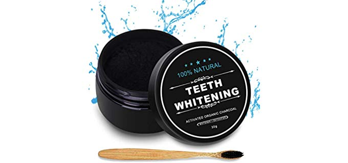 Nimiah Natural - Activated Charcoal Teeth Whitening Powder