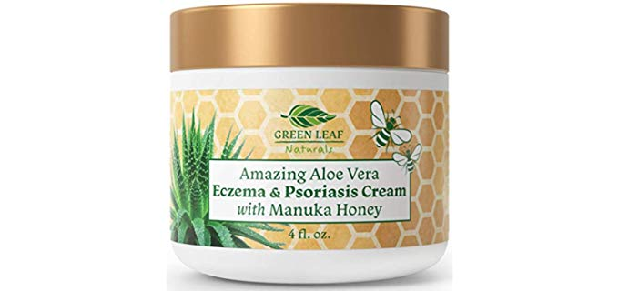 Green Leaf Naturals Aloe Vera - Eczema and Psoriasis Cream