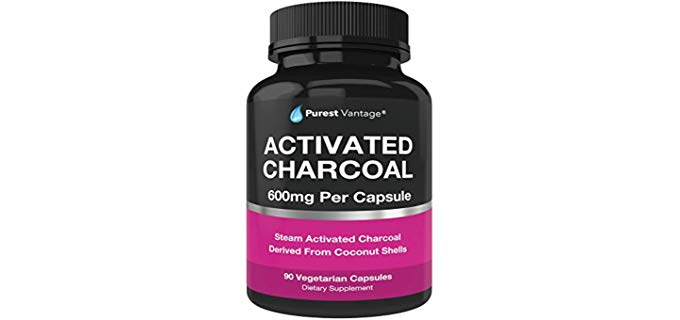 Purest vantage Vegetarian - Organic Activated Charcoal Capsules