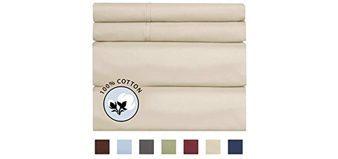 CGK Unlimited 100% Cotton - Fitted Organic Cotton Sheets