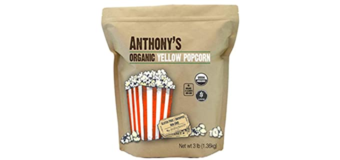 Anthony's Goods Yellow - Organic UnPopped Popcorn Kernels