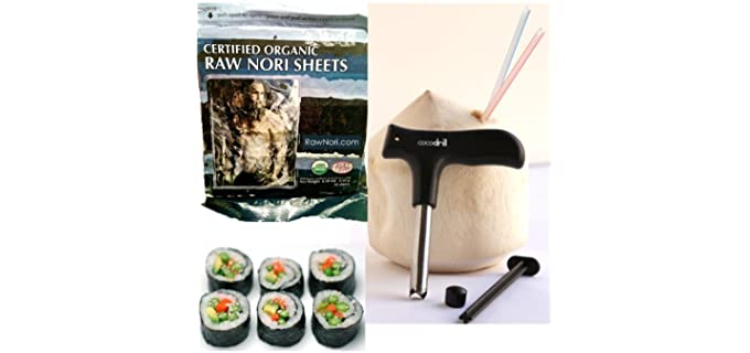 CocoDrill Raw - Certified Organic Nori Sheets