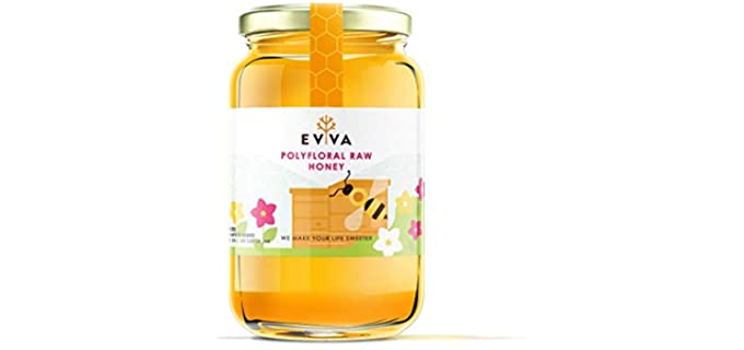EVVA 100% Pure - Organic Polyfloral Raw Honey
