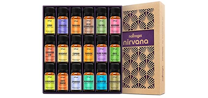 Natrogix Nirvana - 18 Piece Set Organic Essential Oil