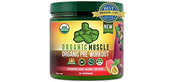 Organic Muscle Organic Pre Workout - Organic Energy Powder Drink