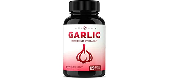 NutraChamps Odorless - Organic Garlic and Clove Supplement