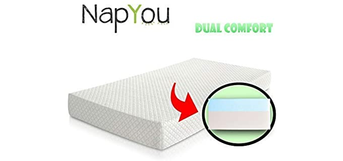 NapYou Exclusive - Dual Comfort Baby Crib Mattress