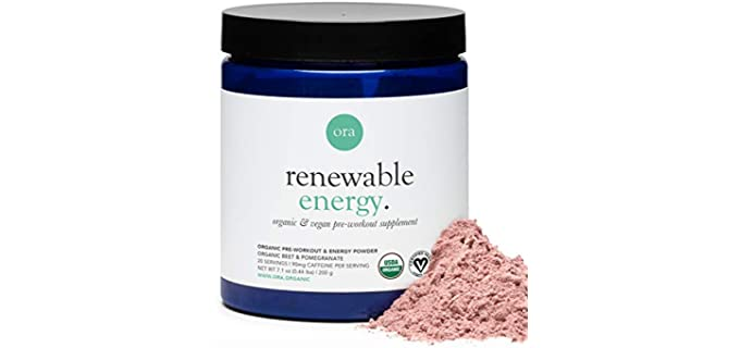 Ora Organic Renewable Energy - Pre-Workout Organic Energy Drink Powder