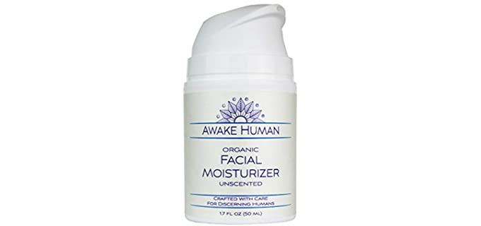 Awake Human Unscented - Organic Face Moisturizer Cream