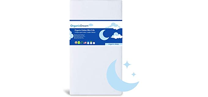 Organic Dream 2-stage - Mini Crib Organic Toddler Mattress