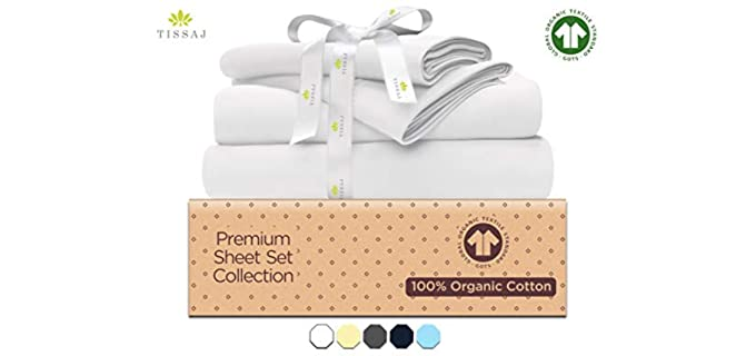 Tissaj Premium - Eco-Friendly Organic Cotton Sheet Set