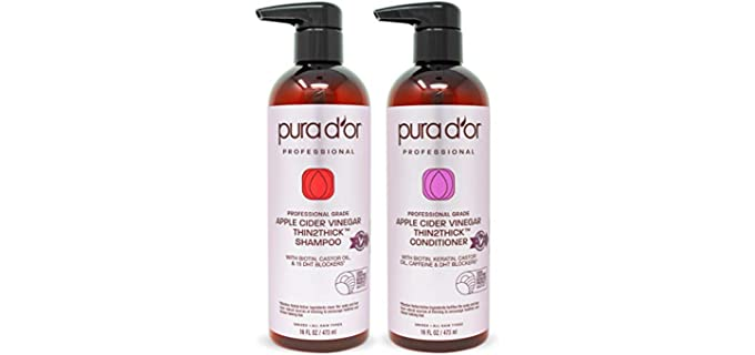 Pura D'Or Apple Cider Vinegar - Organic Shampoo for Color Treated Hair