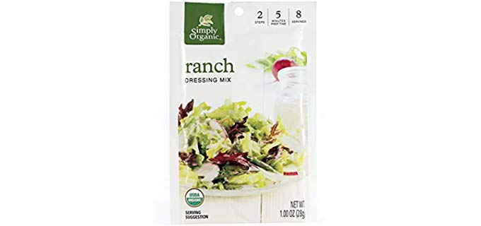 Simply Organic Packets - Ranch Salad Dressing Mix