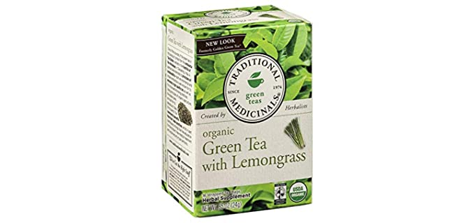 Traditional Medicinals Herbal Supplement - Organic Green Tea with Lemongrass